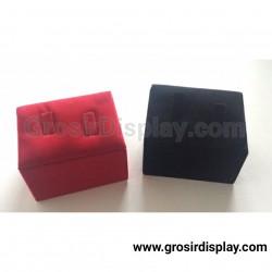 Display Cincin Isi 2 Stand Ring Kotak Bludru Perlengkapan Seserahan