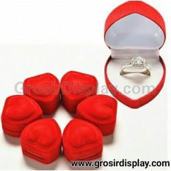 Kotak Display Cincin Mini Bentuk Love Merah Seserahan Lamaran Perlengkapan Pernikahan