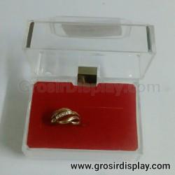 Kotak Tempat Cincin Isi 2 Kristal Ring Box Perlengkapan Seserahan Lamaran Toko Perhiasan