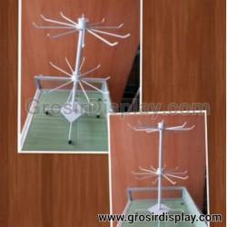 Gantungan Display Kalung Putar 2 susun Atas Rak Meja