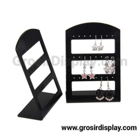 Akrilik Display Pajangan Anting Mini 3 Susun 24 Lubang