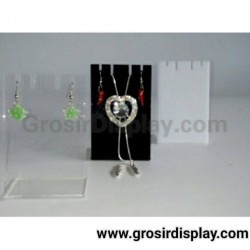 Akrilik Mini Display Aksesoris Pajangan Anting Kalung Perhiasan