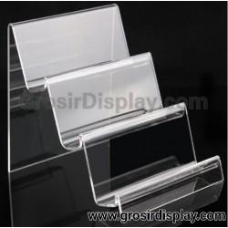 Akrilik Tangga 3 Susun Medium Display Tas Pajangan Dompet Perlengkapan Toko