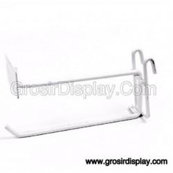 Gantungan Hook Ram Plat Harga 25 cm Putih
