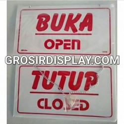 Papan Open Close Buka Tutup Akrilik Butik Toko