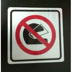 Sticker Peringatan Dilarang Menggunakan Helm