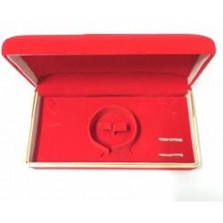 Kotak Tempat Perhiasan Merah List Gold
