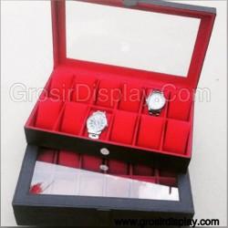 Kotak Tempat Jam Tangan Bludru Box isi 12