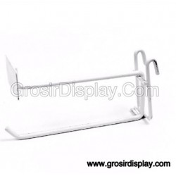 Gantungan Hook Ram Plat Harga 20 cm Putih