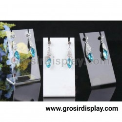 Papan Akrilik Display Aksesoris Kalung Perhiasan Putih