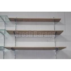 Tiang Rak Kayu / Kaca 1,5 meter